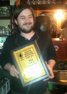 Rowan with CAMRA Croydon & Sutton Pub of Year 2012